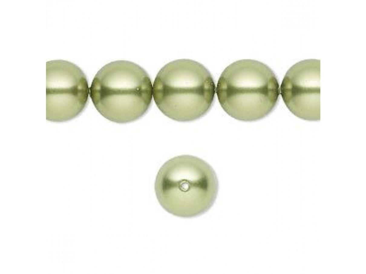 Swarovski® crystal pearl, Light Green, 10mm rund