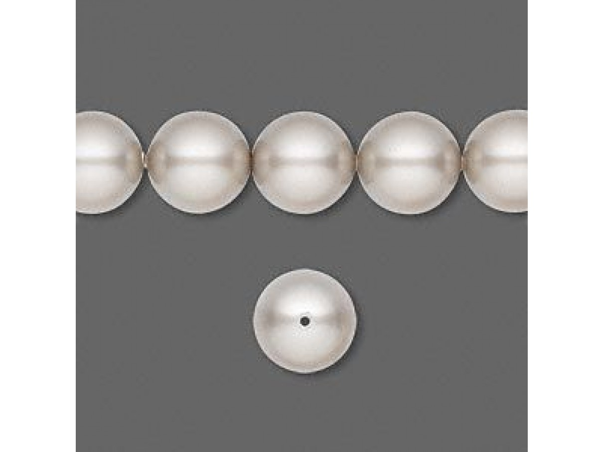 Swarovski crystal pearl, Platinum, 10mm rund