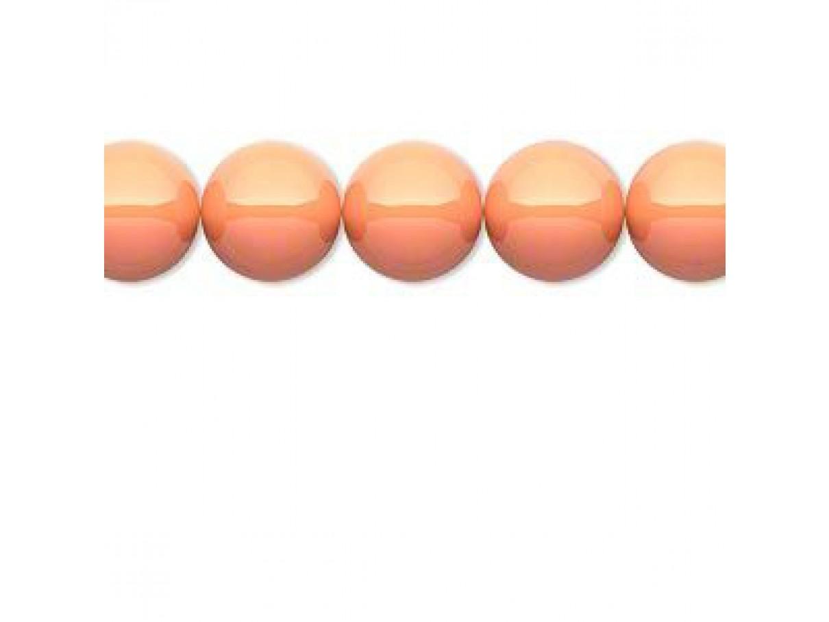 Swarovski® crystal pearl, 12mm rund, coral