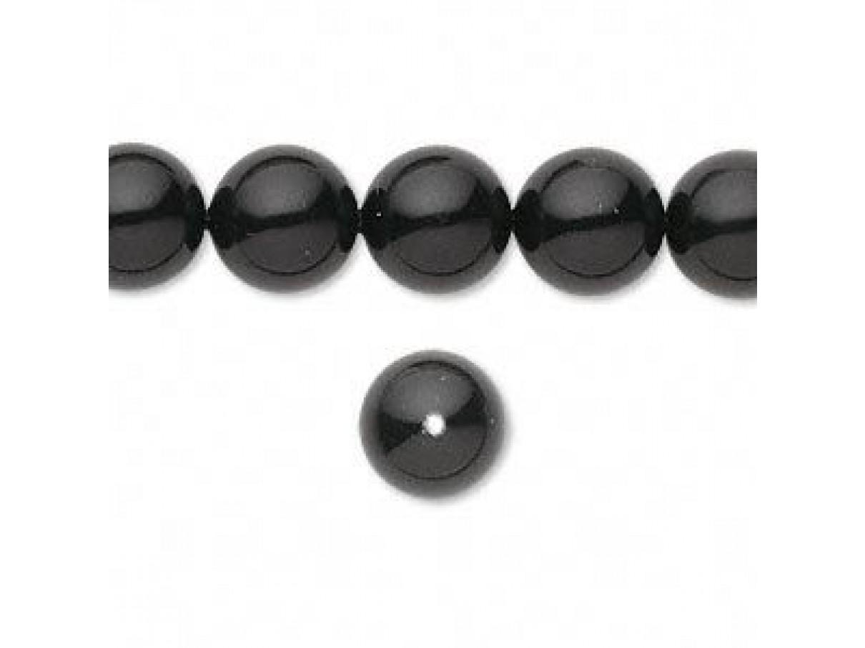Swarovski® crystal pearl, Mystic Black, 10mm rund