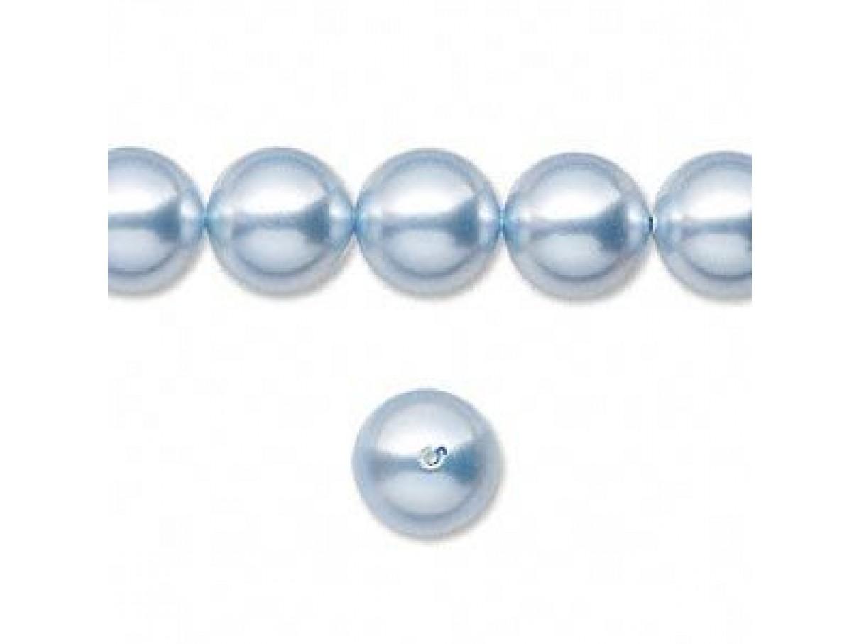 Swarovski crystal pearl, Light blue, 10mm rund