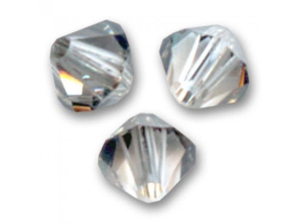 Swarovski crystal 4mm bicone, crystal satin, 10 stk