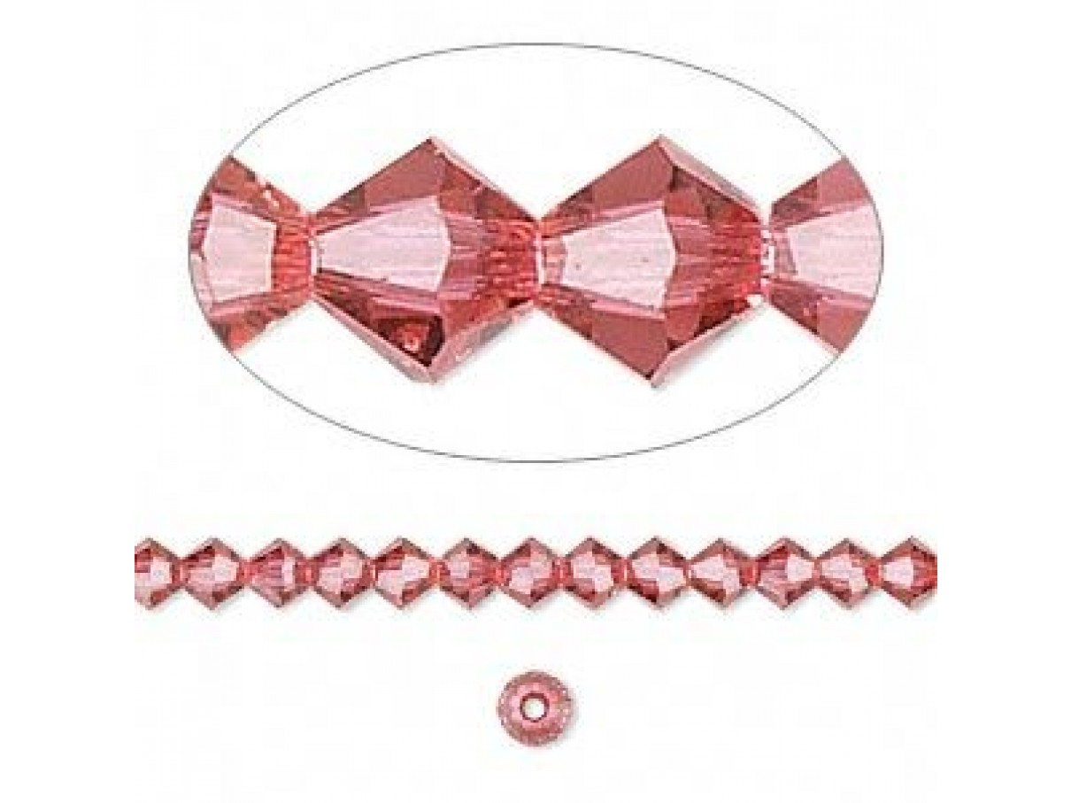 Swarovski bicones 4mm indian pink