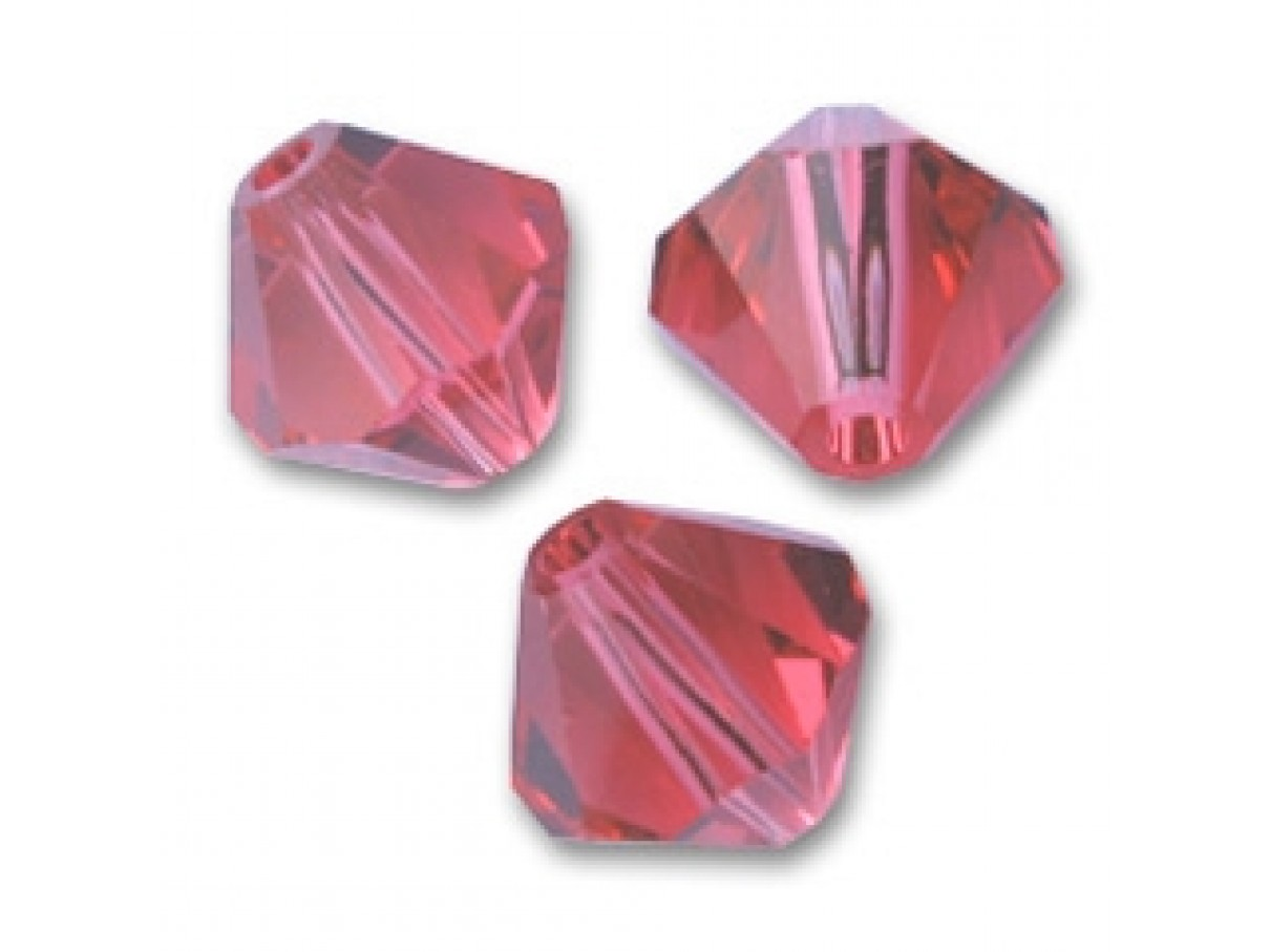 Indian Pink Swarovski bicones 4mm