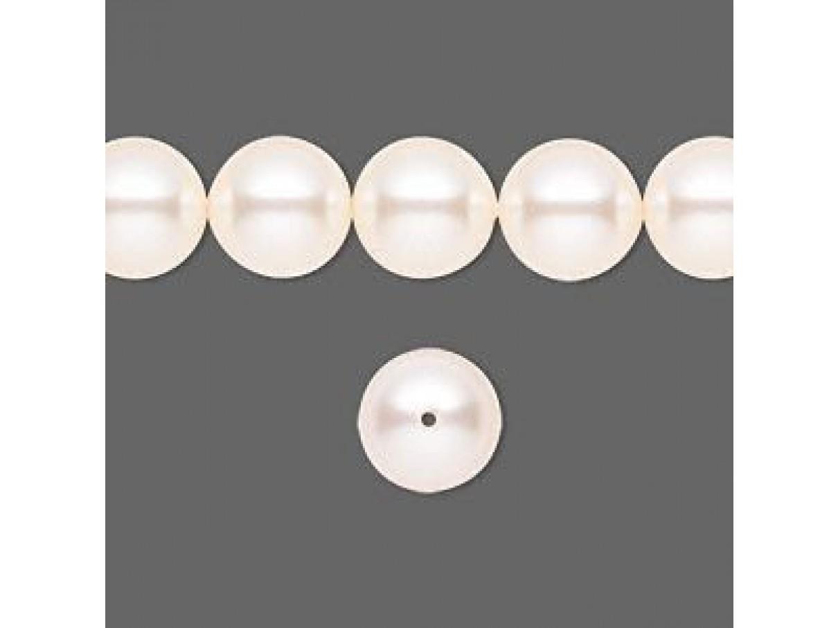 Swarovski crystal pearl, Creamrose, 10mm rund