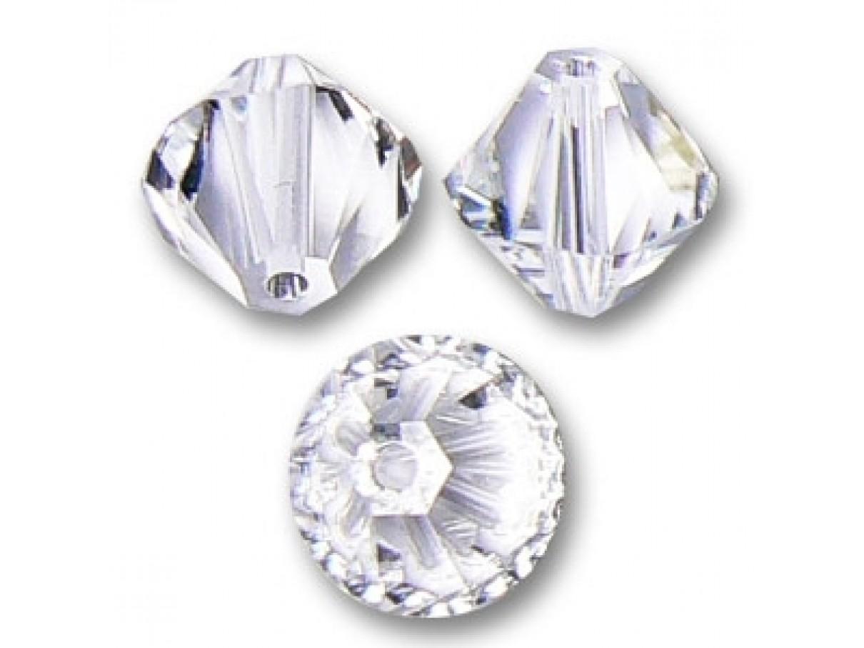 Swarovski crystal, 4mm bicone, Crystal Clear, 10 stk