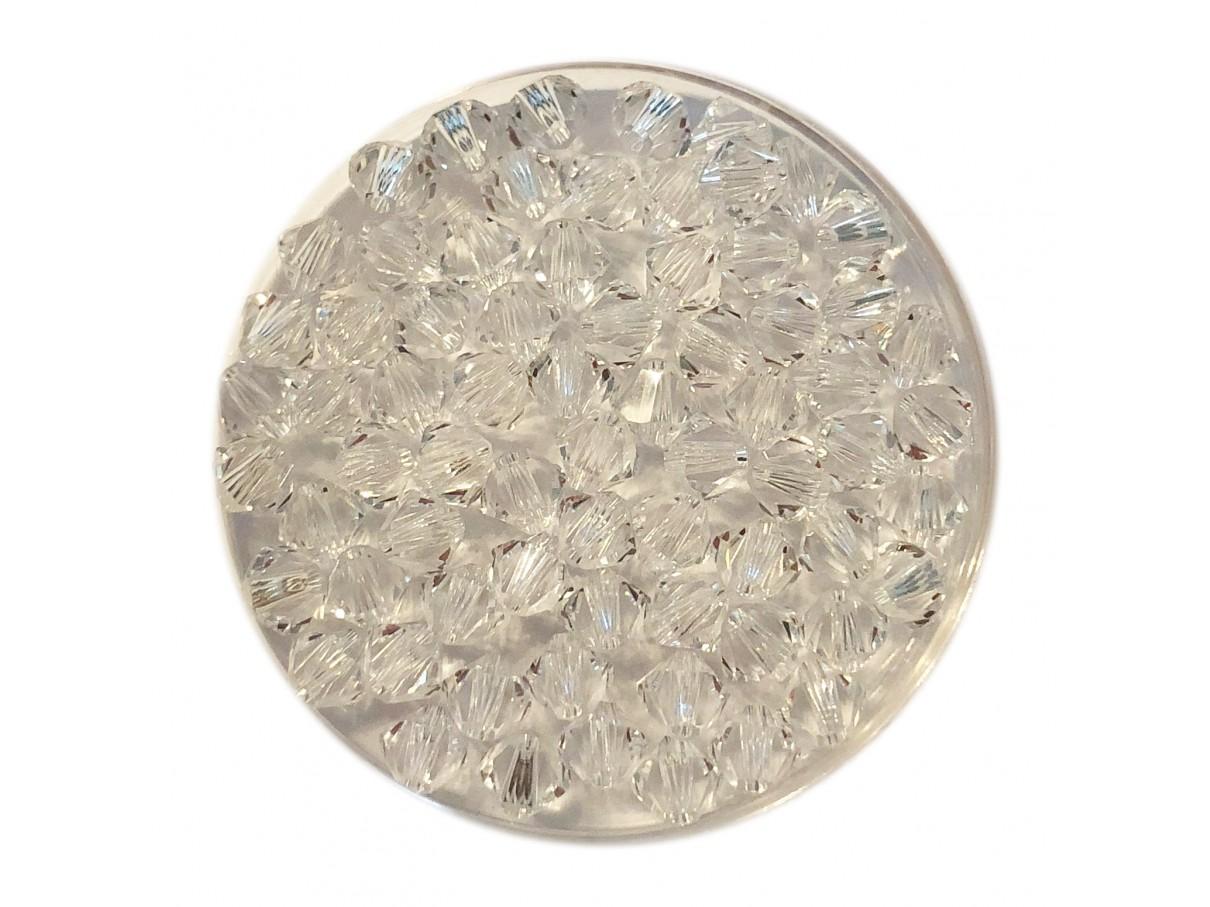 4mm svarovski bicones crystal clear