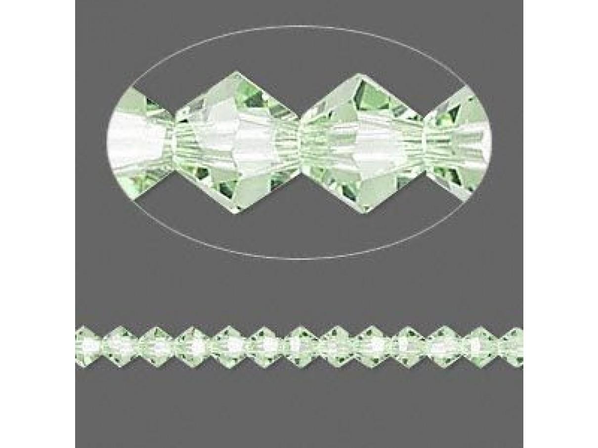 chrysolite Swarovski bicones 4mm
