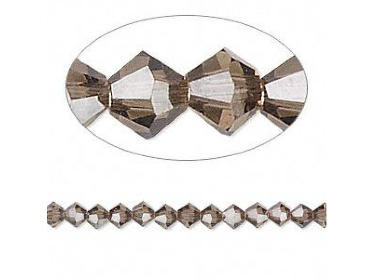 4mm røgfarvede swarovski krystaller