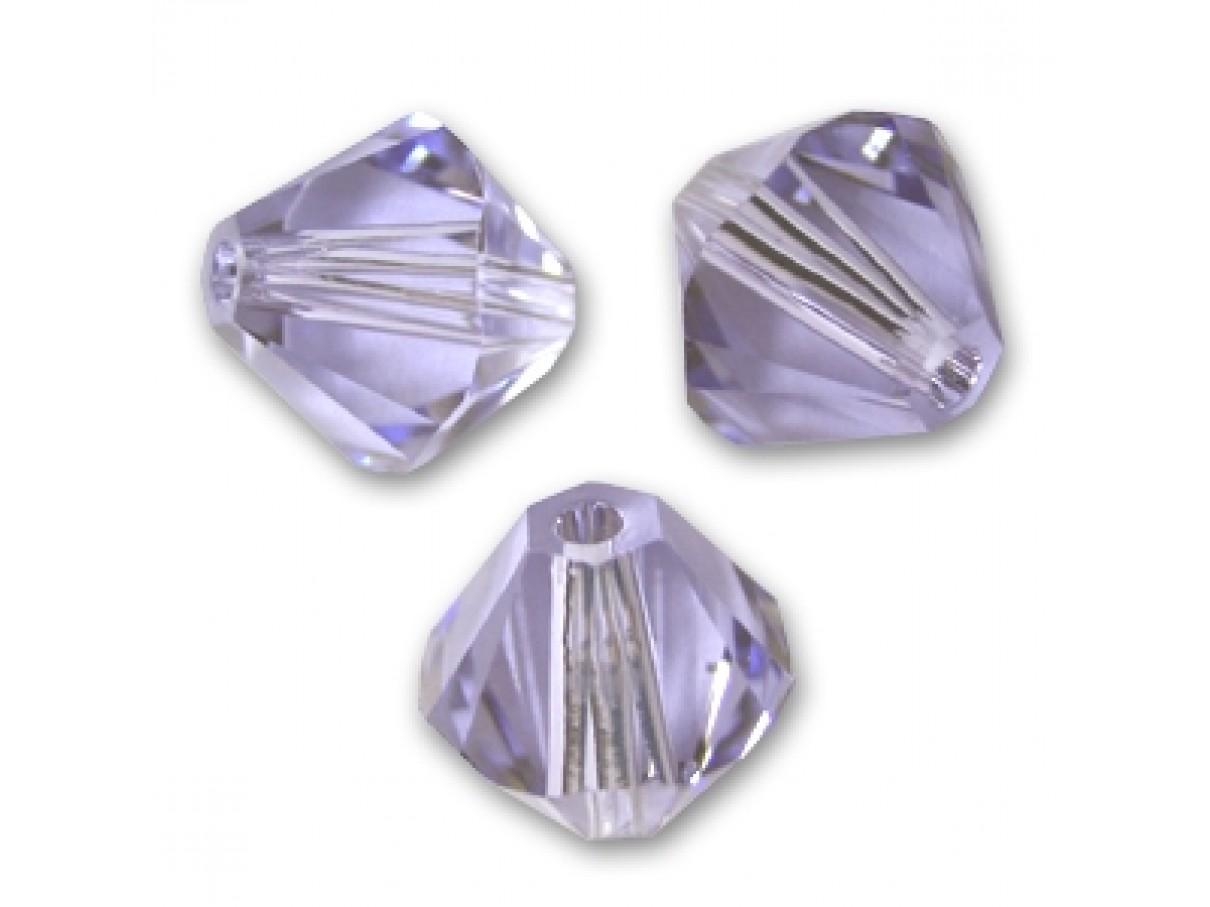Swarovski crystal, 4mm bicone, provence lavender, 10 stk