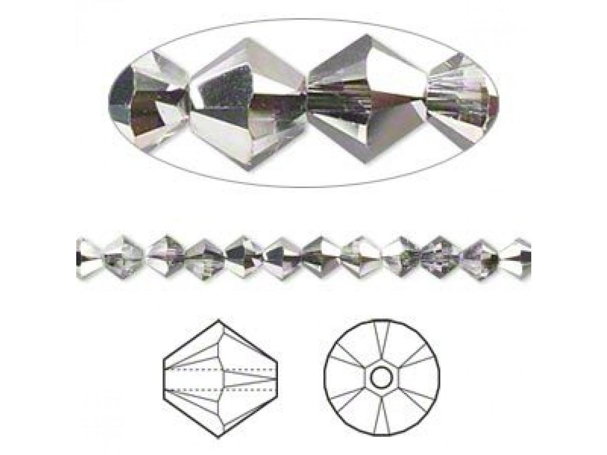 swarovskicrystal4mmbiconecrystalsilvernight10stk-30