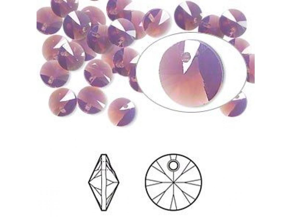Swarovski Rivoli Pendant Xilion, 8mm Cyclamen Opal, 2 stk
