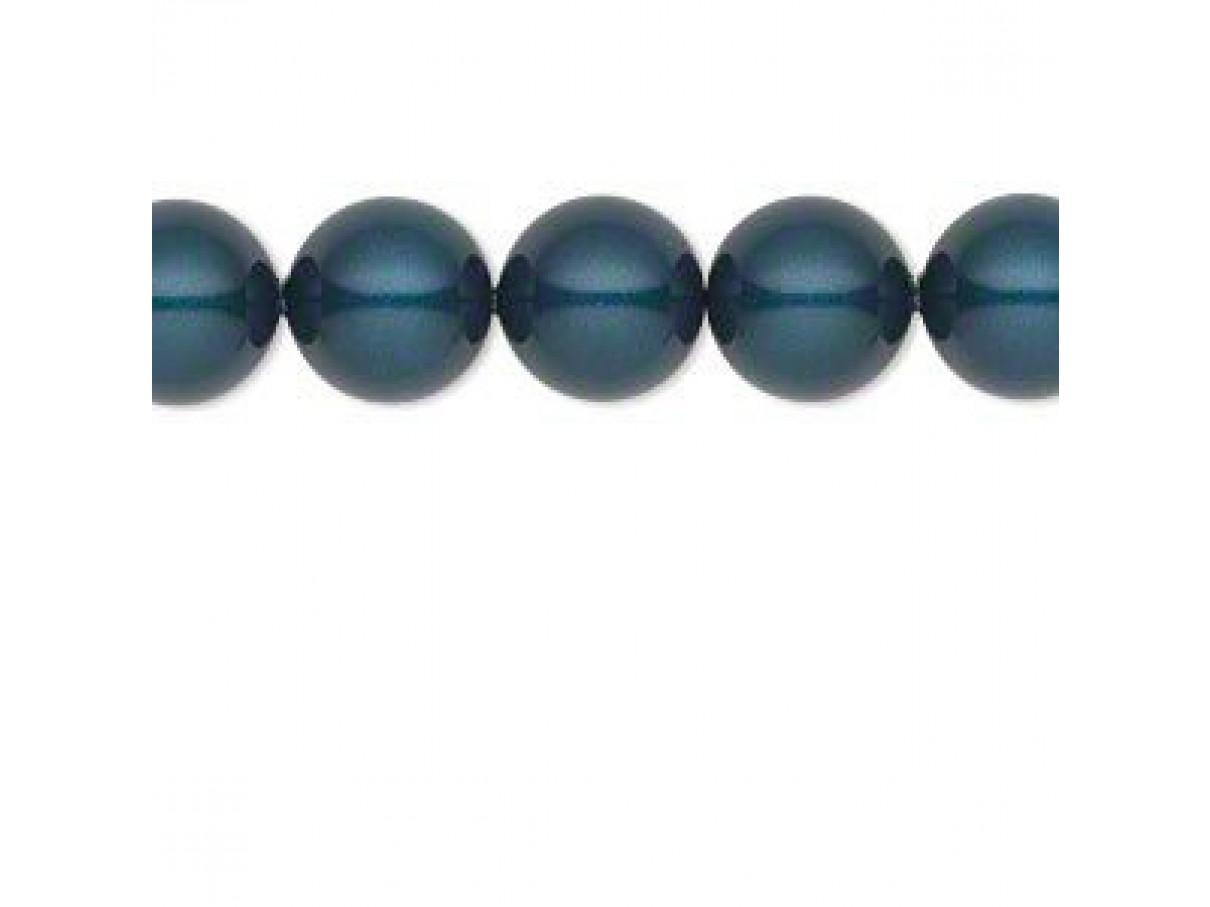 Swarovski crystal pearl, Petrol, 10mm rund
