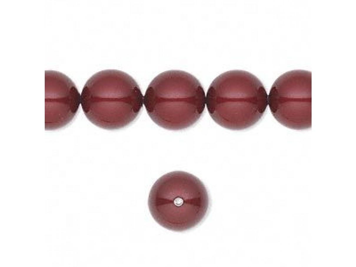Swarovski crystal pearl, Bordeaux, 10mm rund