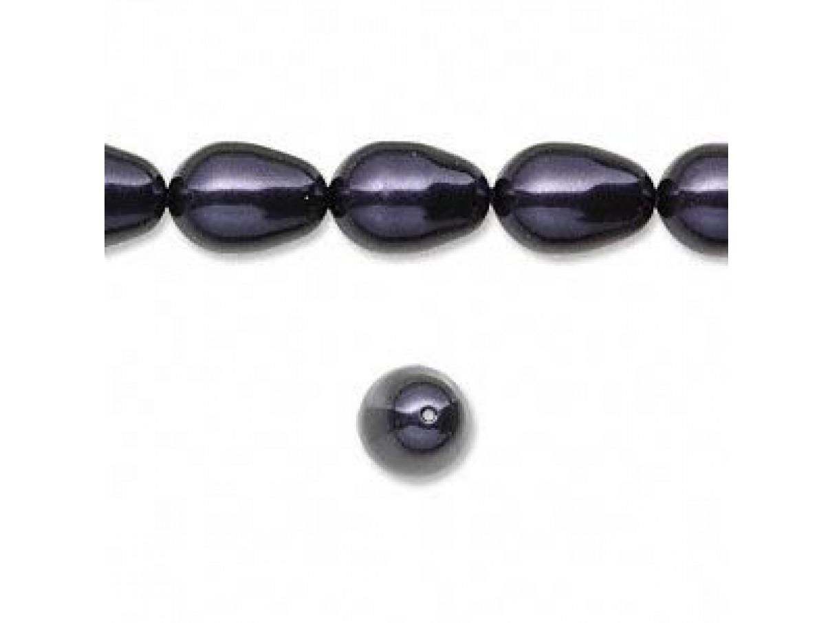 Swarovski® crystal pearl, 11mm dråbe, Dark purple