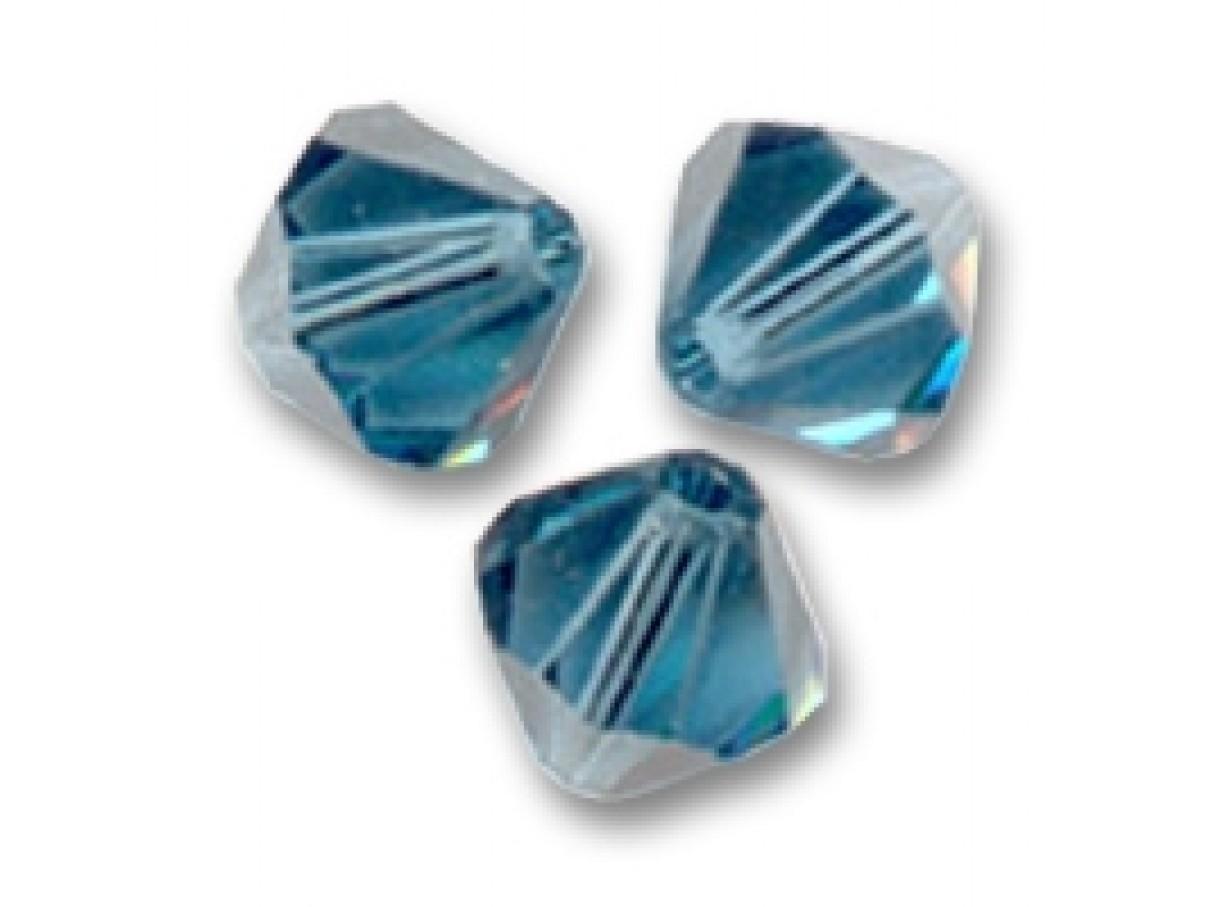 Swarovski crystal, 4mm bicone, Montana, 10 stk