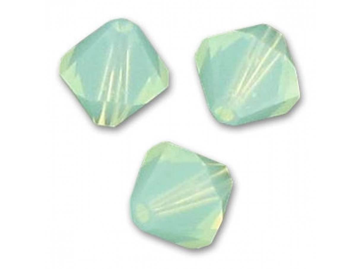 4mm Swarovski bicones chrysolite opal