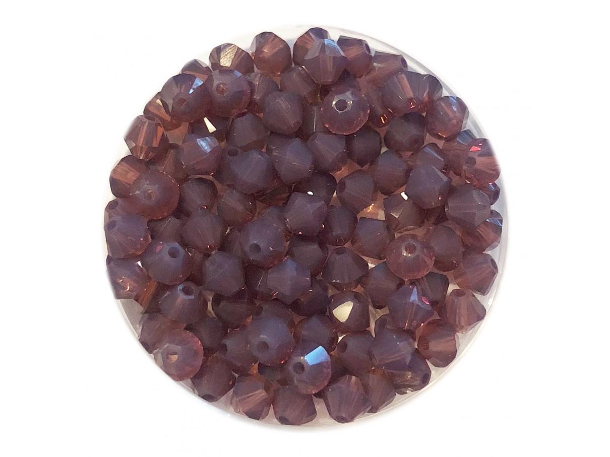 4mm Swarovski bicones cyclamen opal