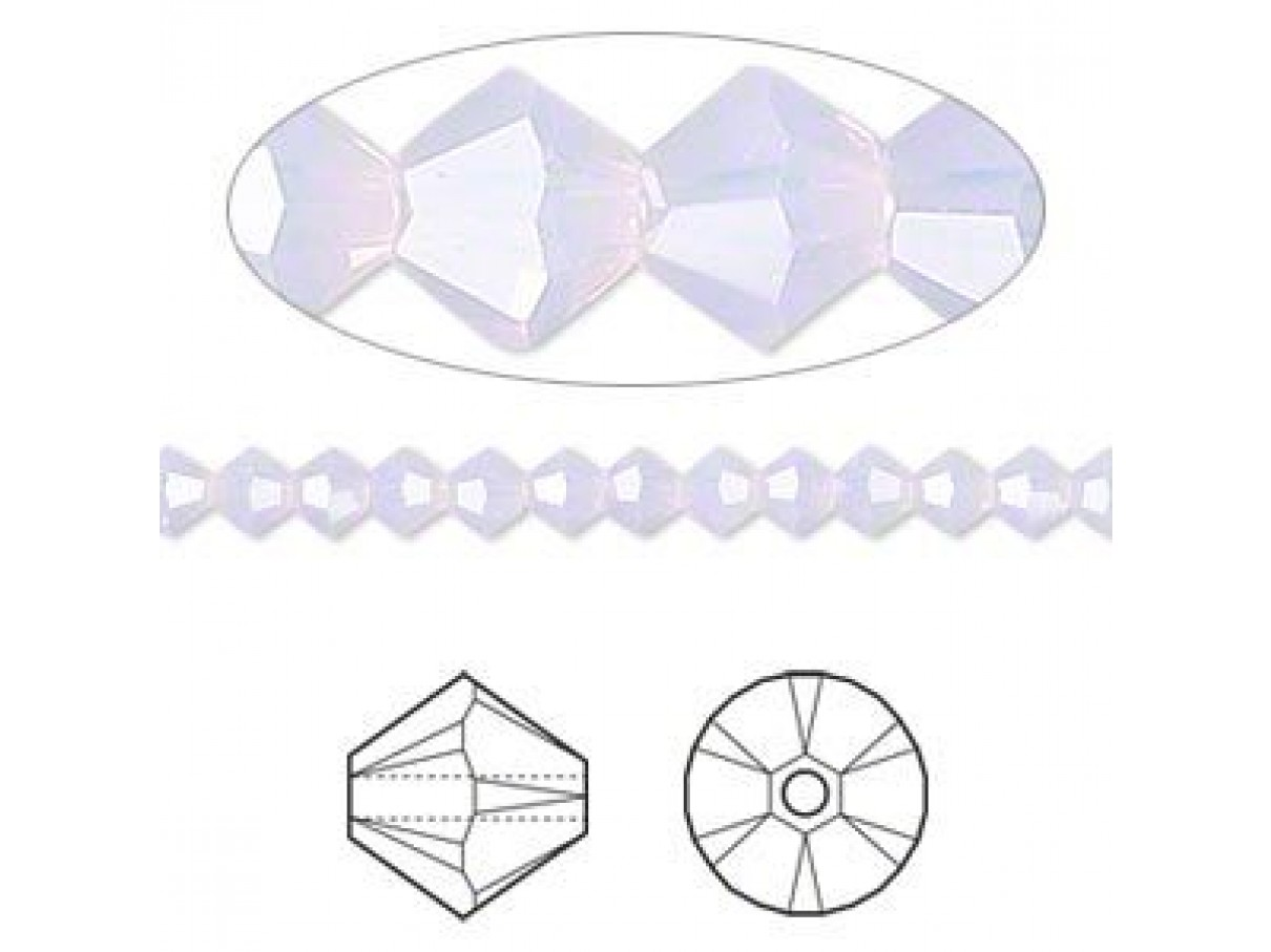 4mm Swarovski bicones Violet Opal