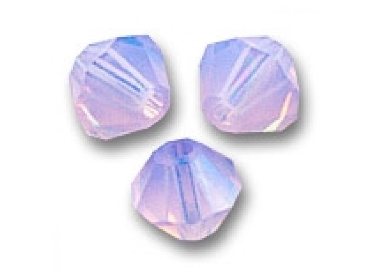 Swarovski crystal, 4mm bicone, Violet opal, 10 stk