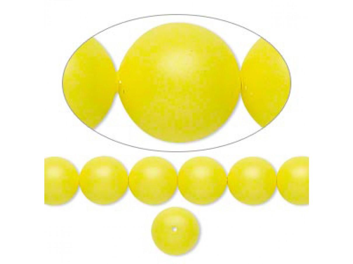 Swarovski® crystal pearl, 8mm rund, neon gul