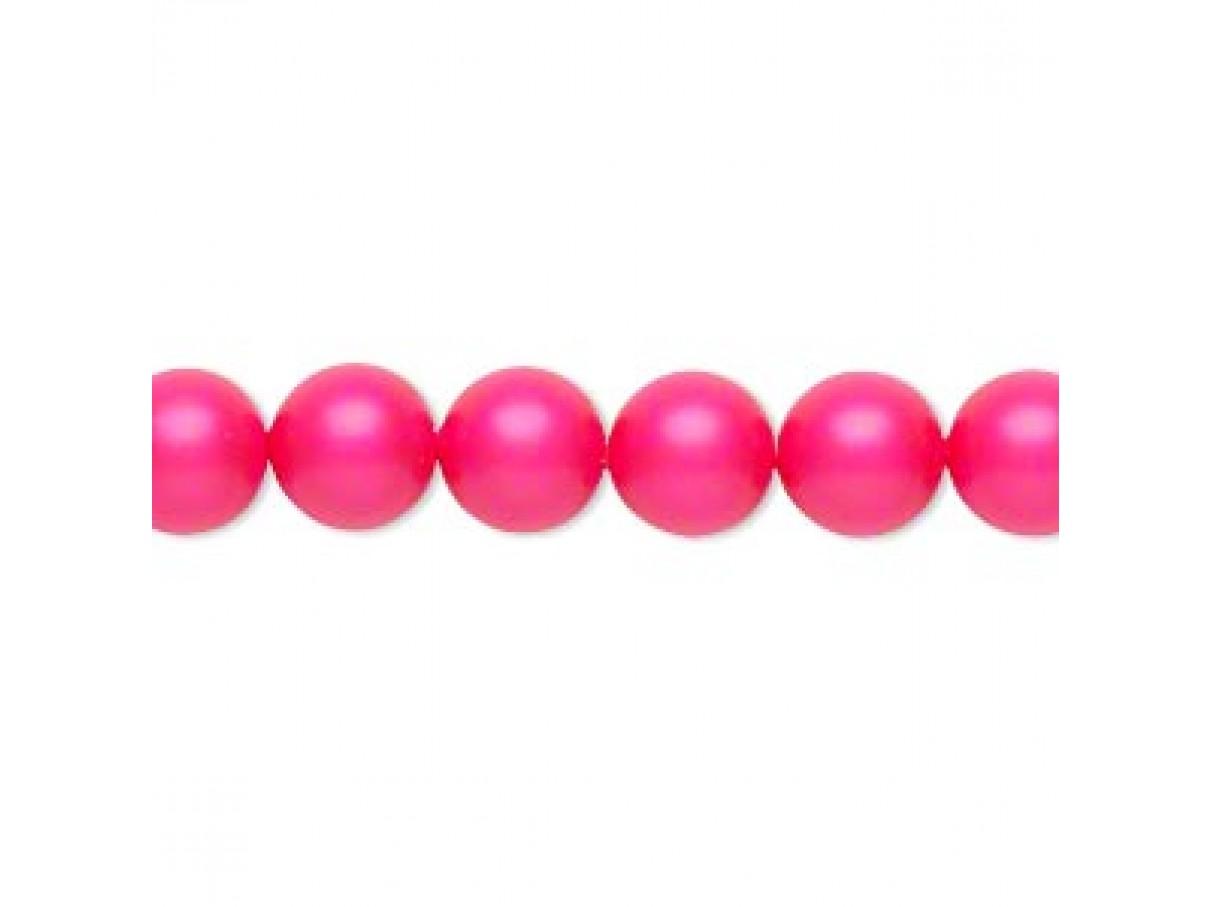 Swarovski® crystal pearl, 8mm rund, neon pink