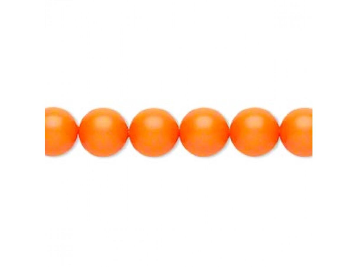 Swarovski® crystal pearl, 8mm rund, neon orange