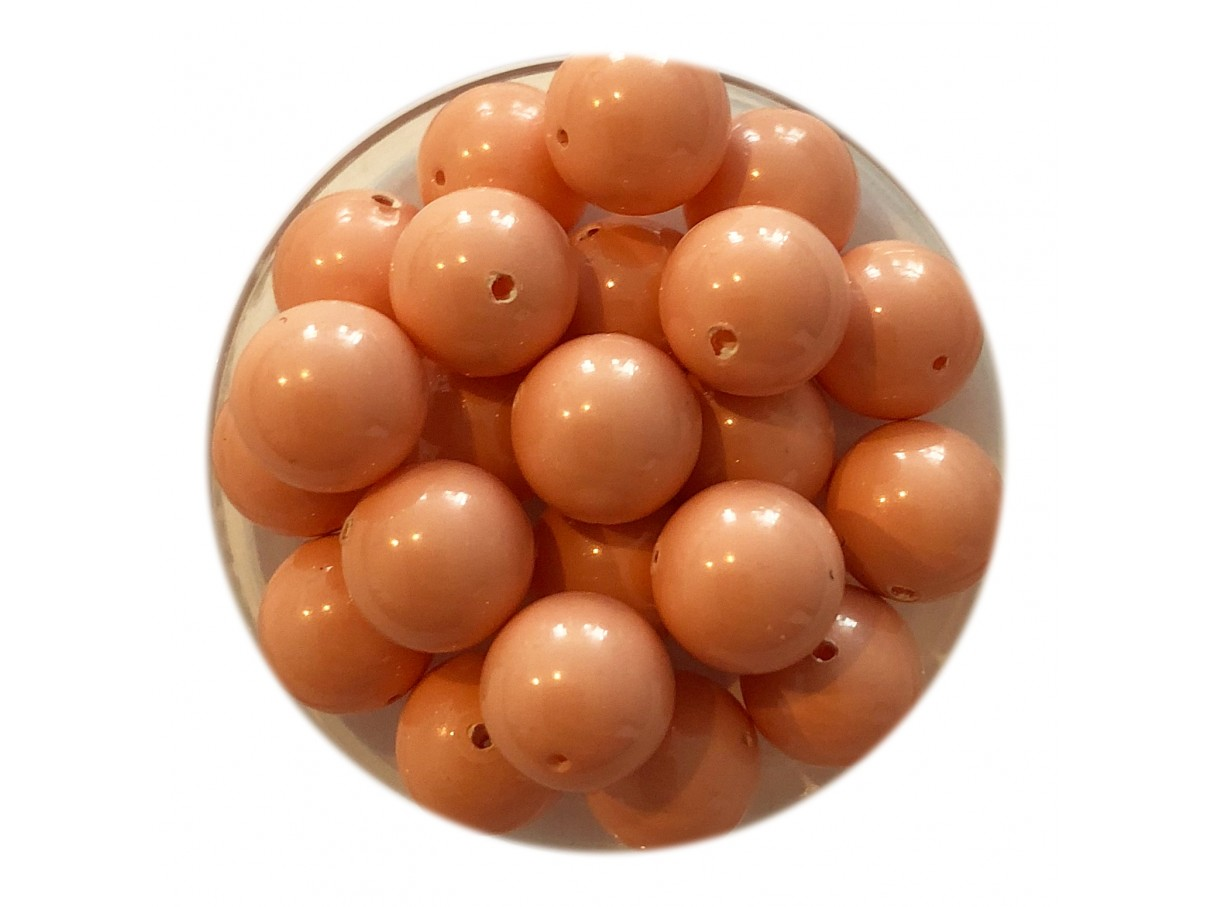Swarovski crystal pearl, Pink Coral, 8mm rund