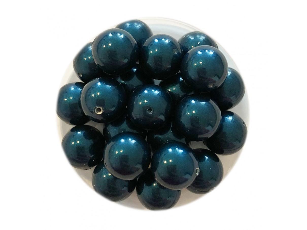Swarovski crystal pearl, Petrol, 8mm rund