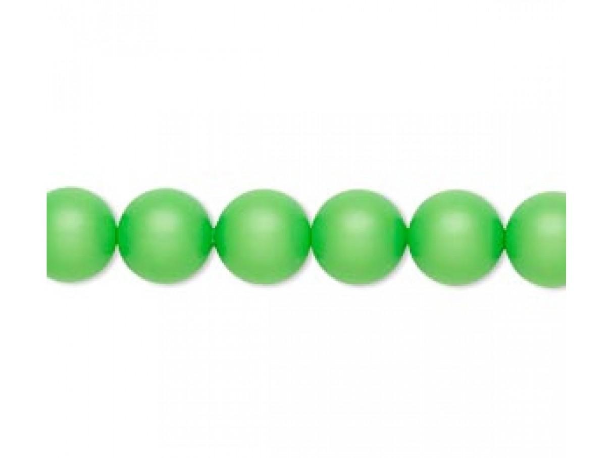 Swarovski® crystal pearl, 8mm rund, neon grøn