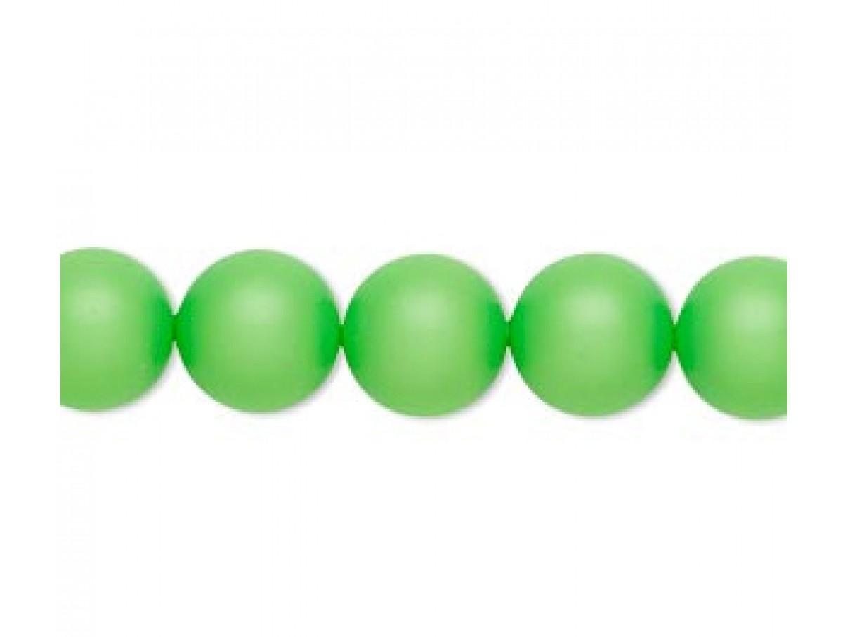 Swarovski® crystal pearl, Neon Green, 10mm rund