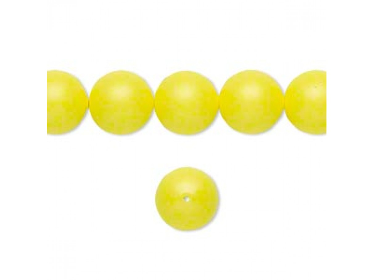 Swarovski crystal pearl, Neon Yellow, 10mm rund
