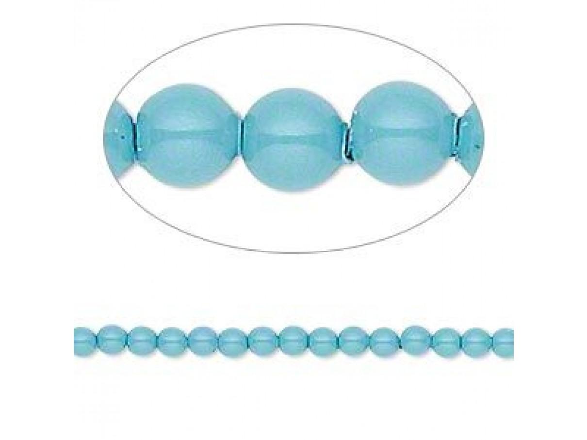 Swarovski® crystal pearl, Turquoise, 3mm rund, 10 stk