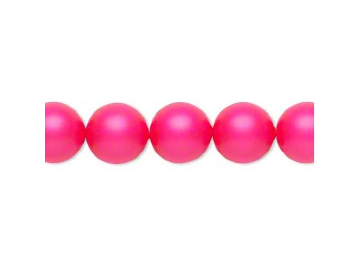 Swarovski® crystal pearl, Neon Pink, 10mm rund