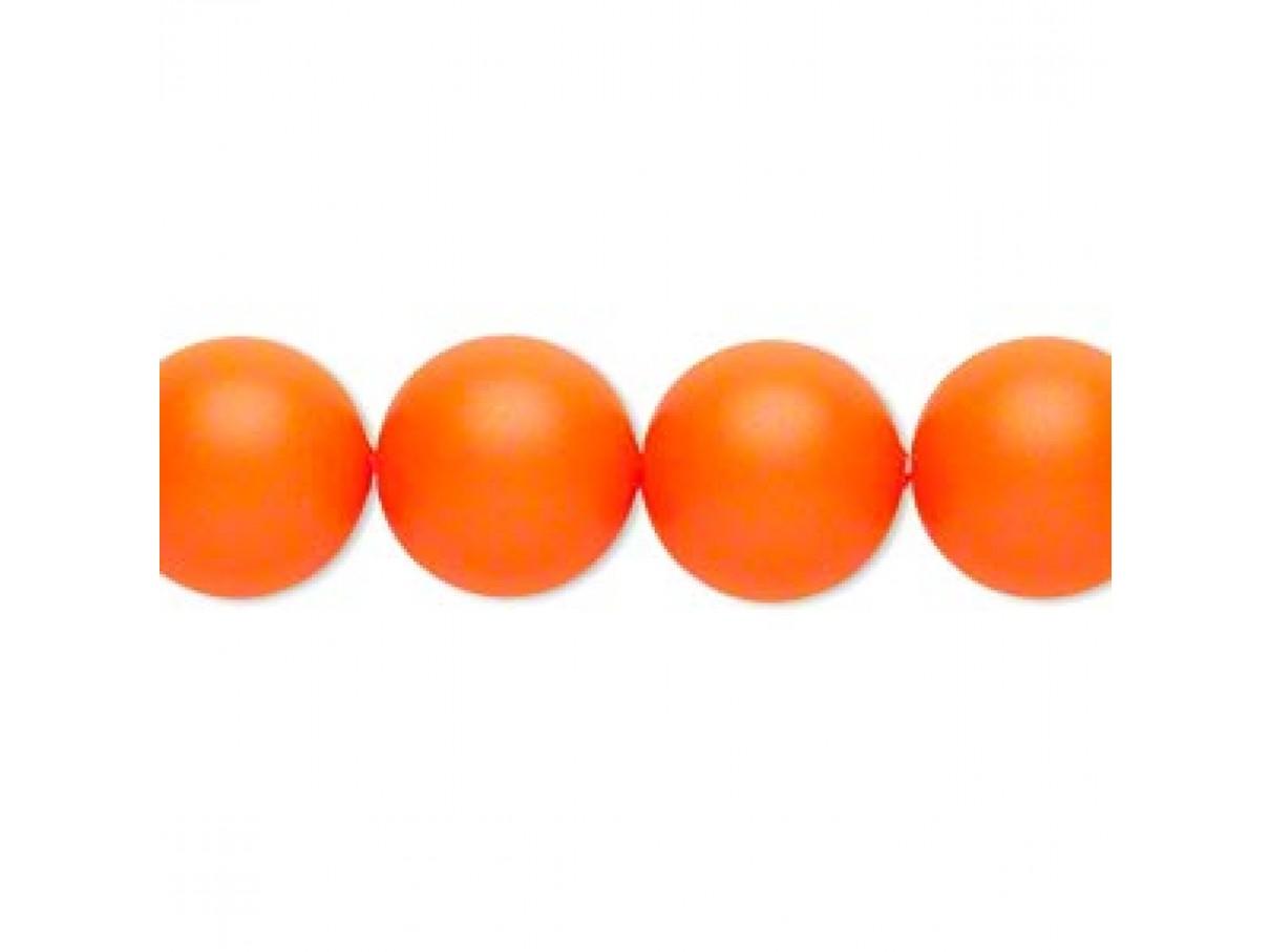 Swarovski® crystal pearl, 12mm rund, neon orange