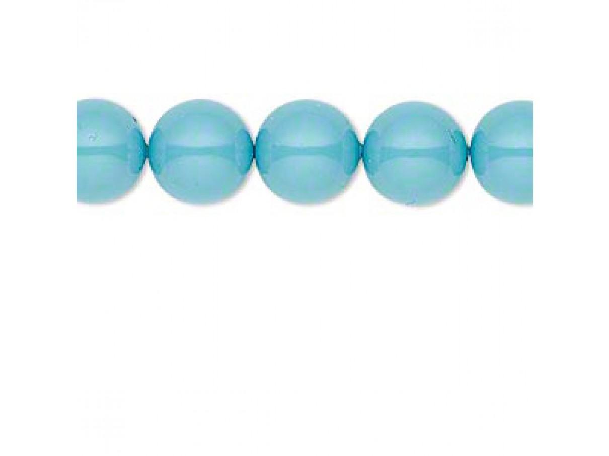 Swarovski® crystal pearl, 10mm rund, turquoise