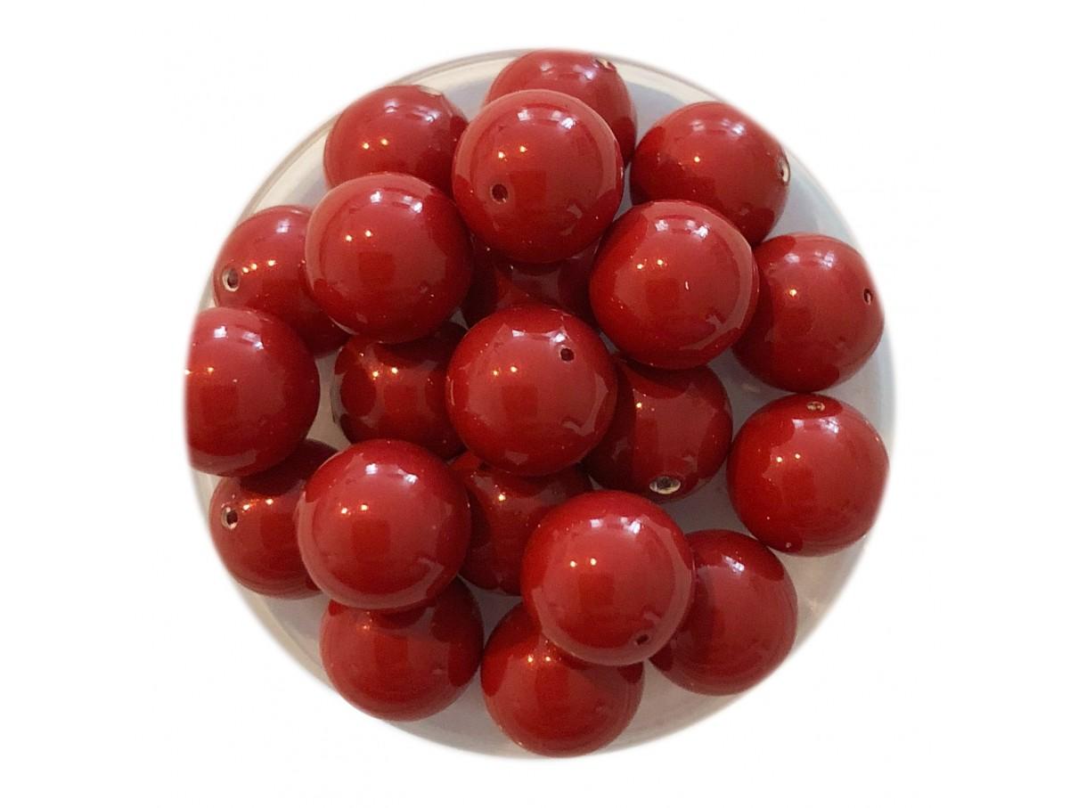 Swarovski crystal pearl, Red Coral, 8mm rund