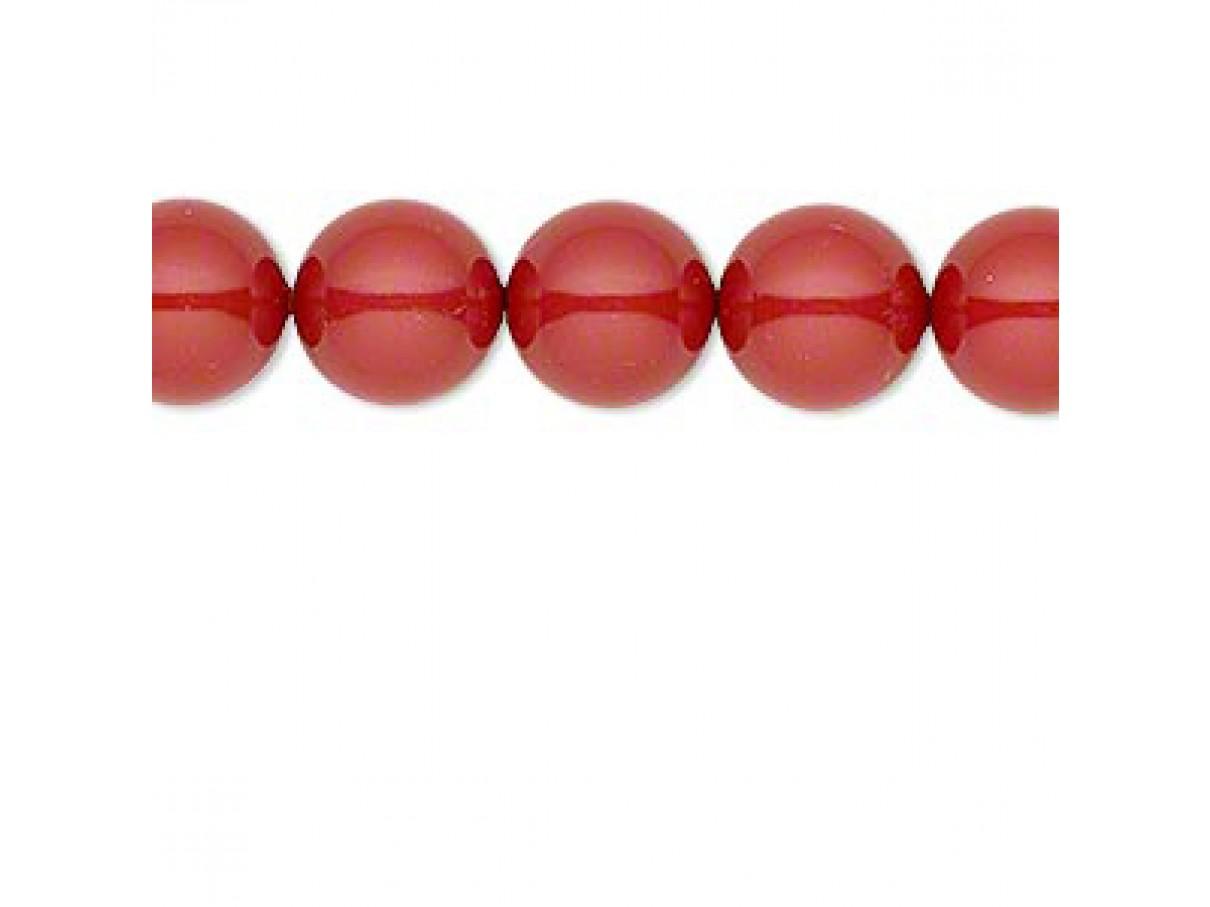 Swarovski® crystal pearl, 10mm rund, red coral