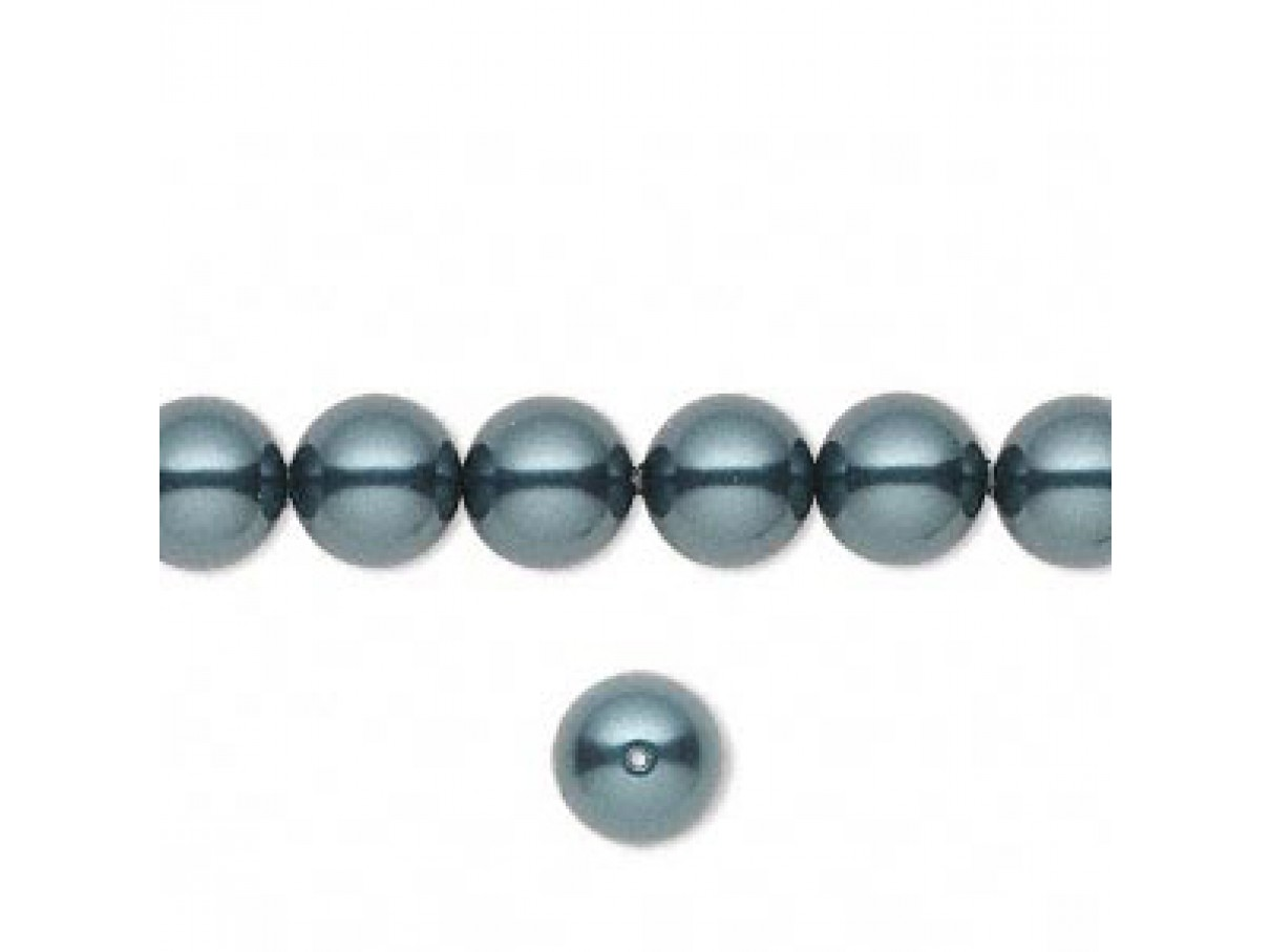 Swarovski crystal pearl, Tahitian, 8mm rund-01