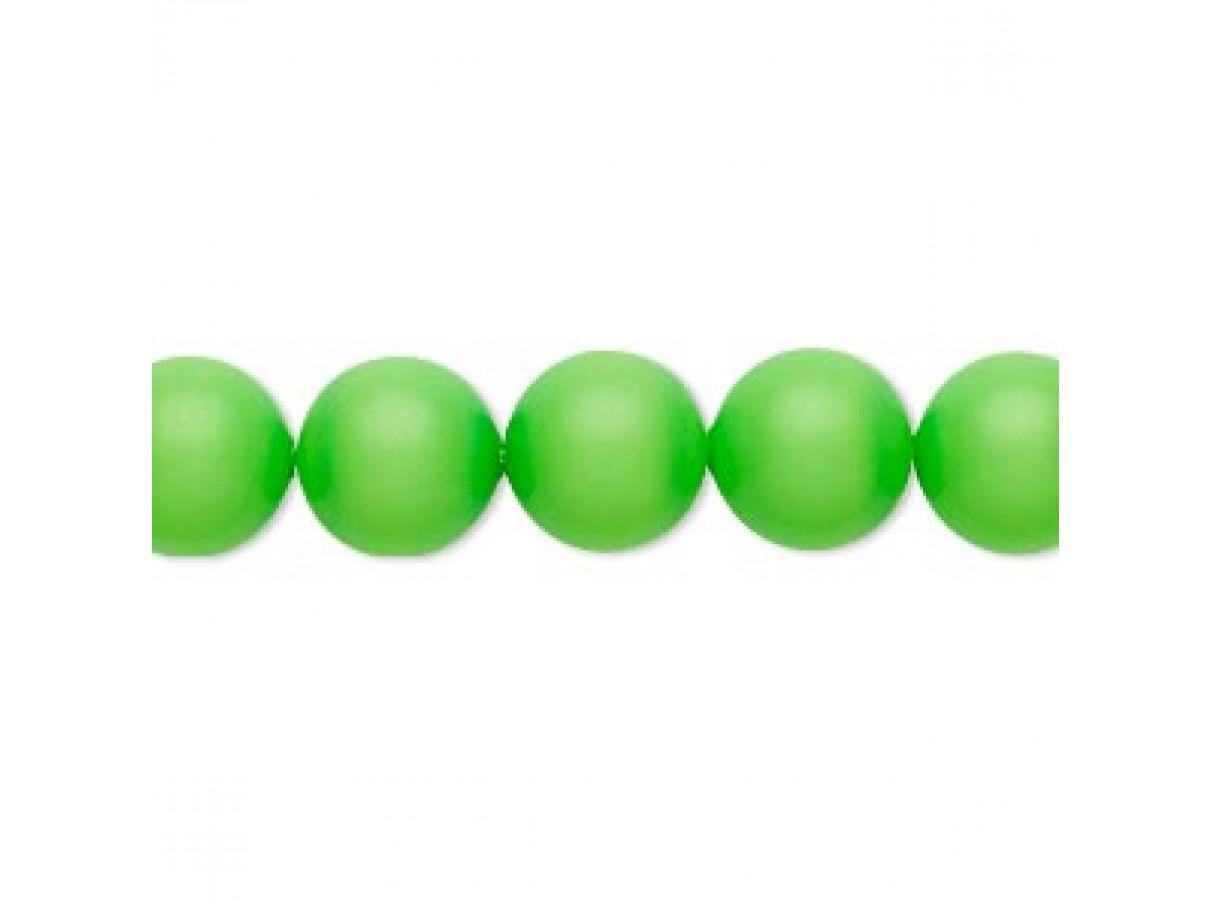 Swarovski® crystal pearl, neon grøn, 16mm rund