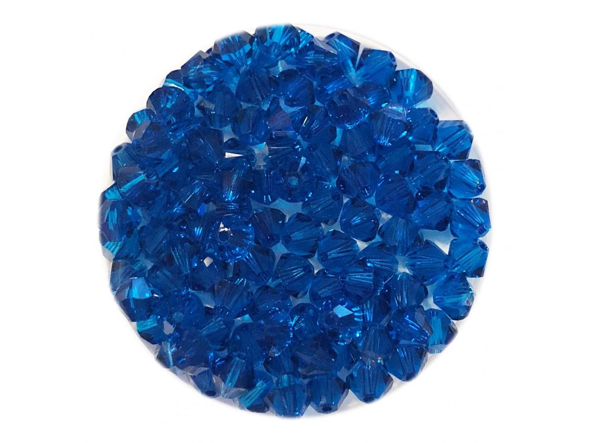 Swarovski crystal 4mm bicone, Capri Blue, 10 stk