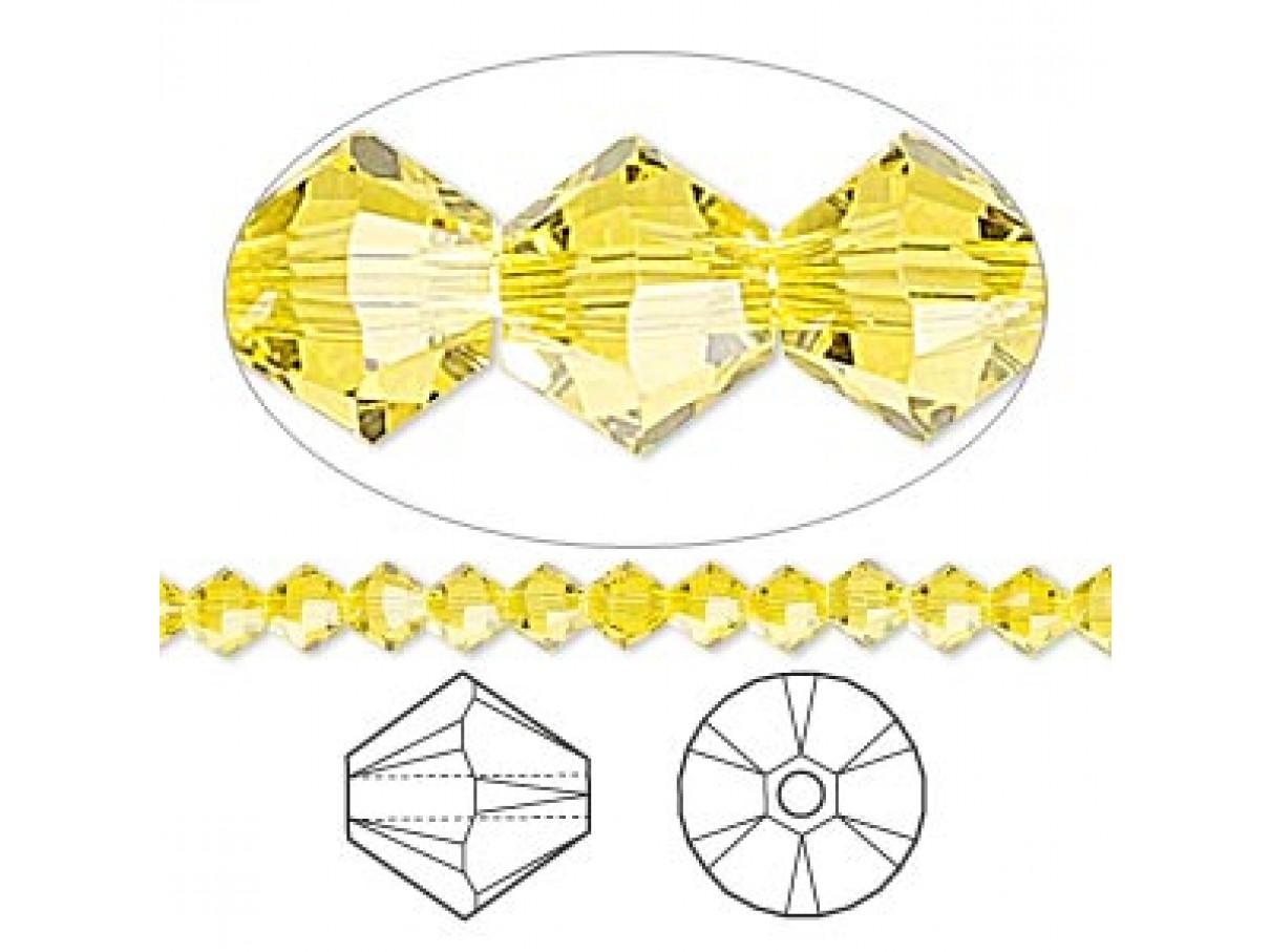 swarovskicrystal4mmbiconecitrine10stk-30