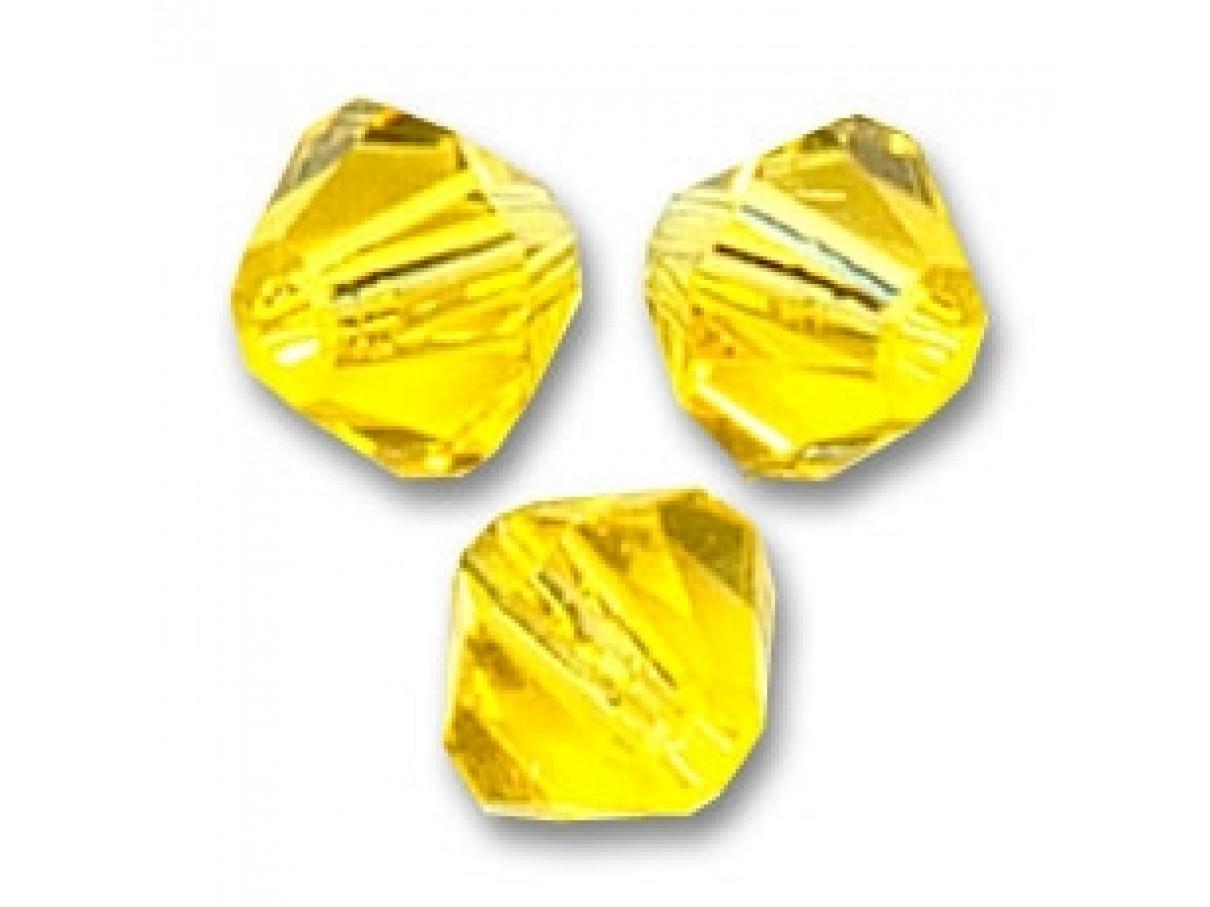 Swarovski crystal 4mm bicone, citrine, 10 stk