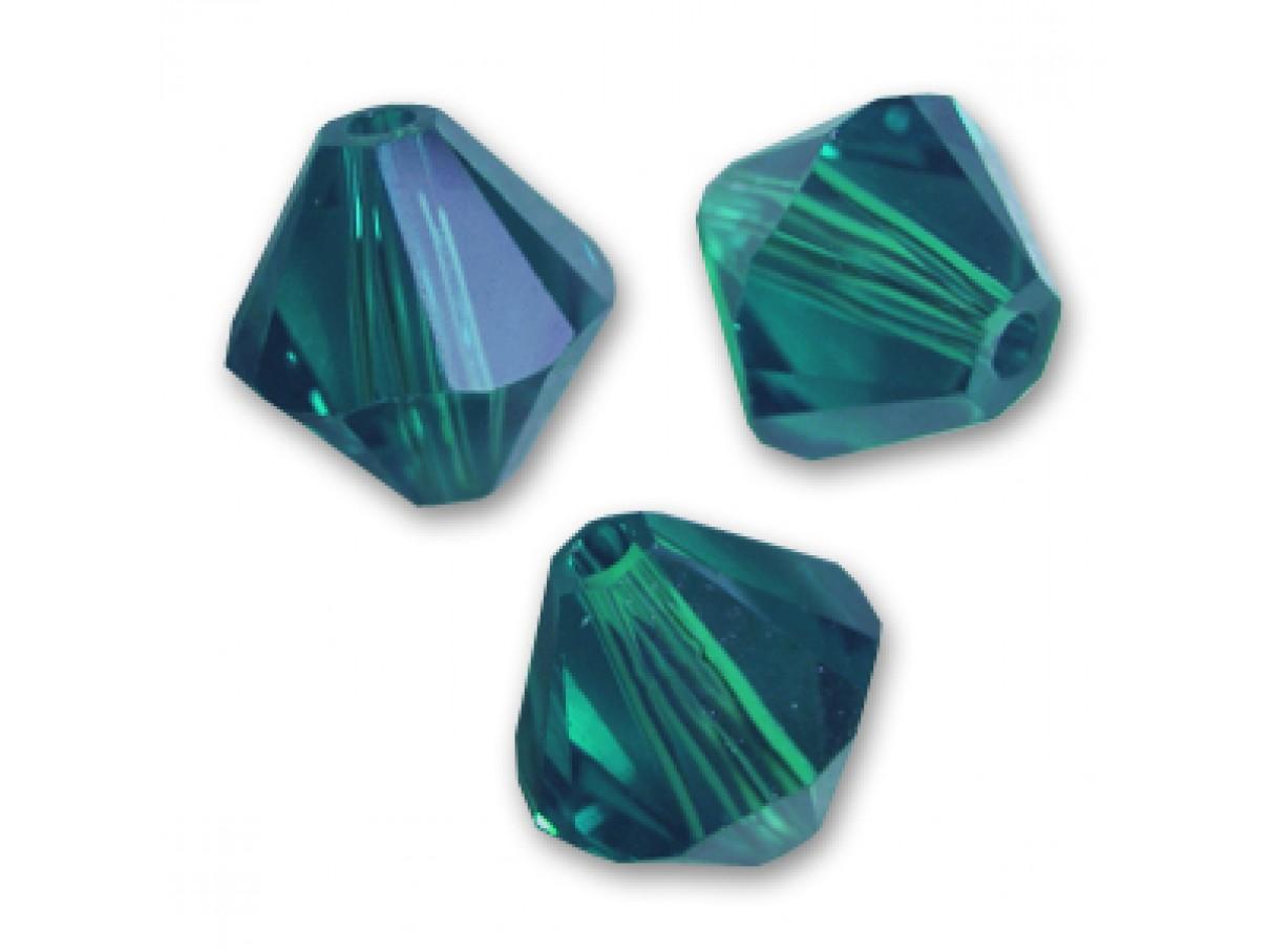 Swarovski bicones emerald