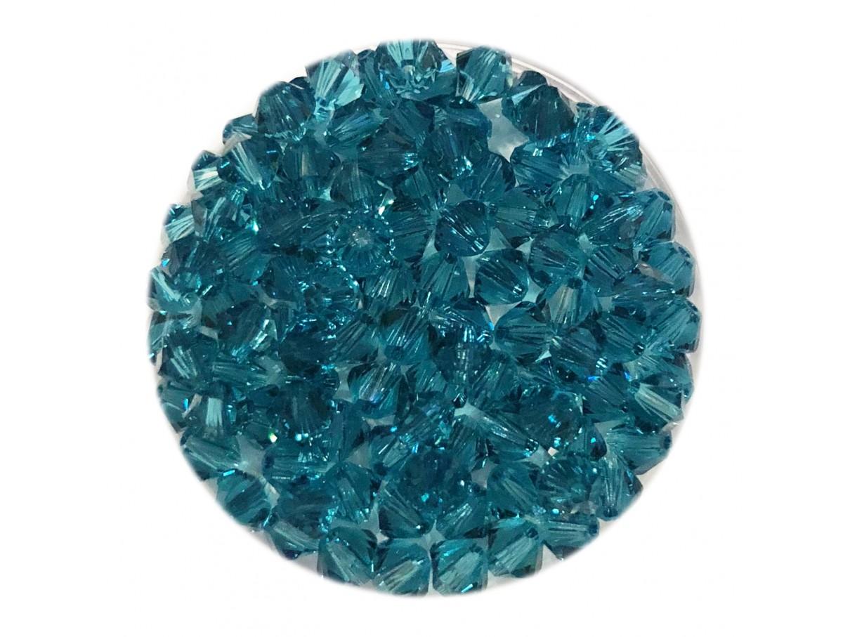 Swarovski crystal 4mm bicone, Indicolite, 10 stk