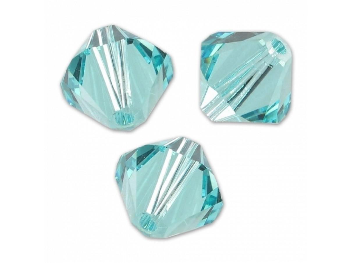 Swarovski crystal 4mm bicone, light turquoise, 10 stk