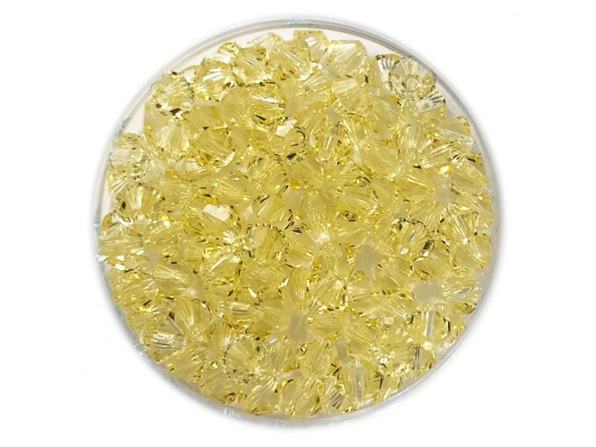 Swarovski crystal 4mm bicone, jonquil, 10 stk