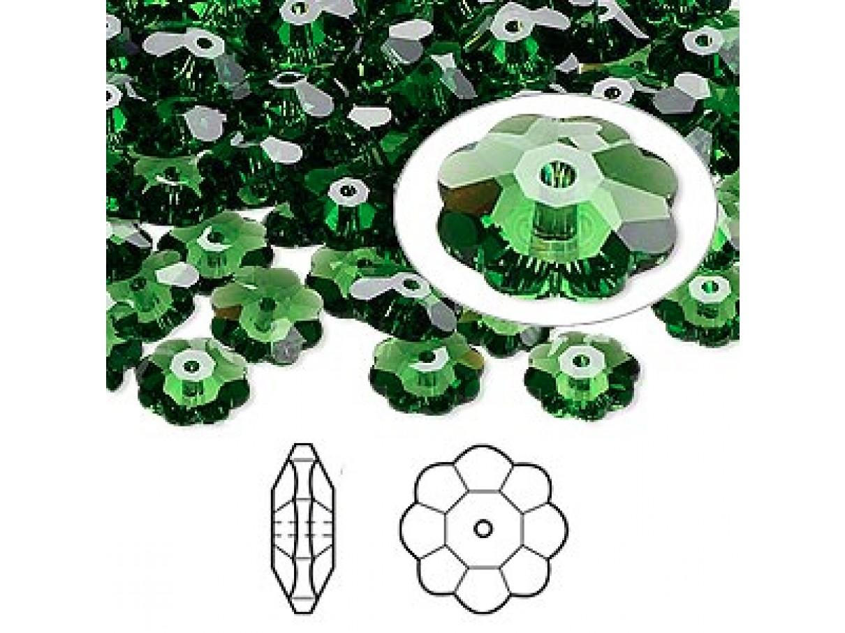 Swarovski® crystal, 8mm marguerite lochrose flower, Fern green