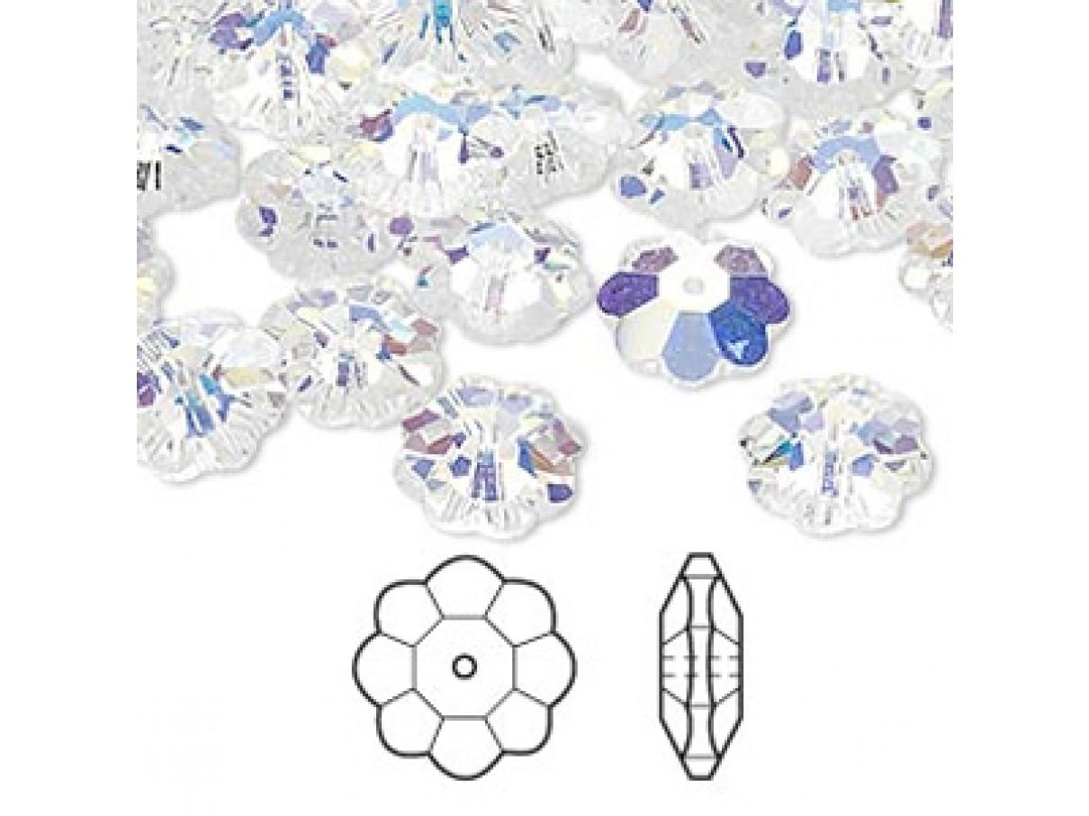 Swarovski® crystal, 10mm marguerite lochrose flower, Crystal AB
