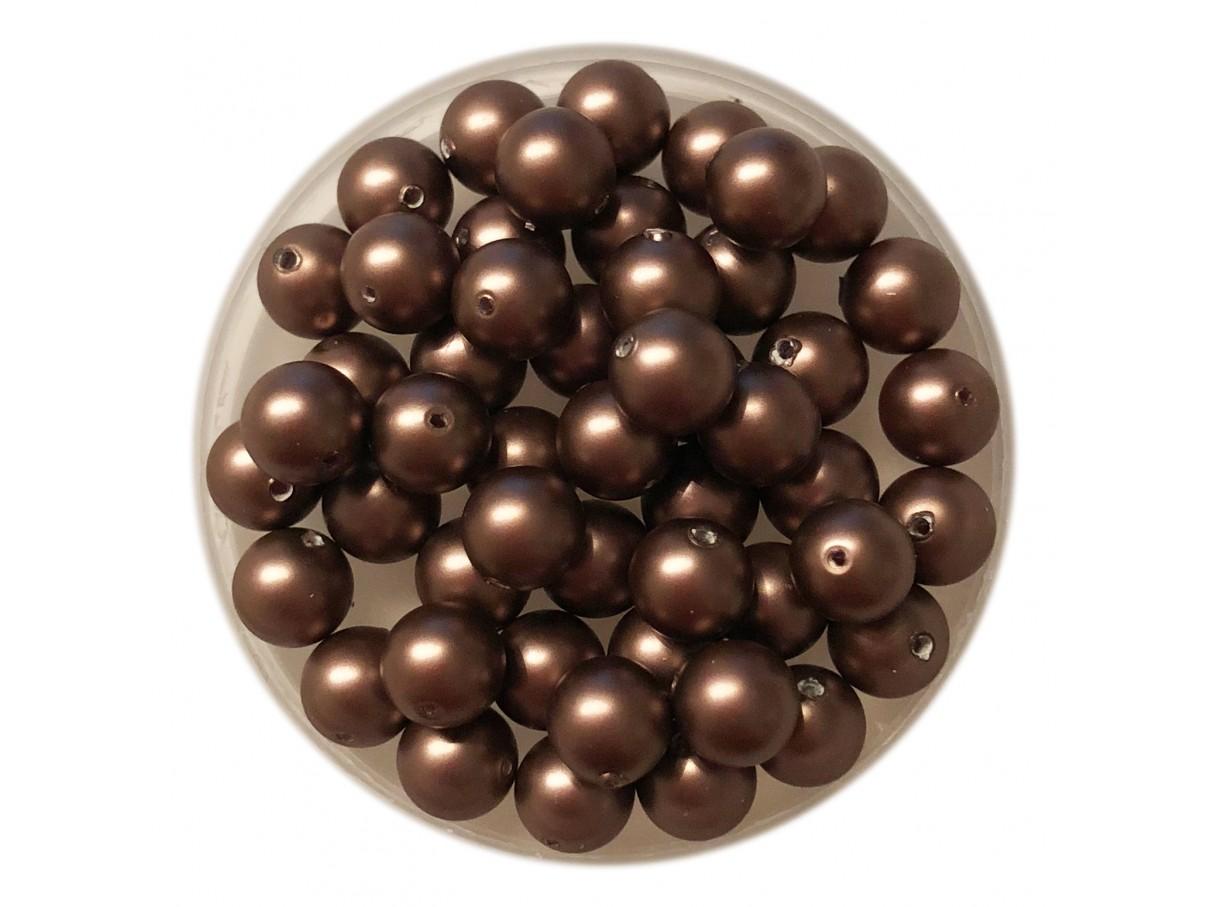 6mm swarovski pearls velvet brown